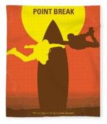 No455 My Point Break Minimal Movie Poster Fleece Blanket by Chungkong Art