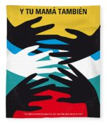 No468 My Y Tu Mama Tambien Minimal Movie Poster Fleece Blanket