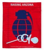 No477 My Raising Arizona Minimal Movie Poster Fleece Blanket