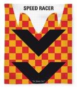 No482 My Speed Racer Minimal Movie Poster Fleece Blanket