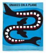 No501 My Snakes On A Plane Minimal Movie Poster Fleece Blanket