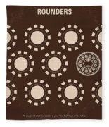 No503 My Rounders Minimal Movie Poster Fleece Blanket