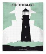 No513 My Shutter Island Minimal Movie Poster Fleece Blanket