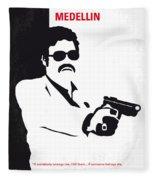 No526 My Medellin Minimal Movie Poster Fleece Blanket