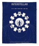 No532 My Interstellar Minimal Movie Poster Fleece Blanket by Chungkong Art