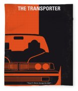 No552 My The Transporter Minimal Movie Poster Fleece Blanket