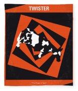 No560 My Twister Minimal Movie Poster Fleece Blanket