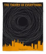 No568 My The Theory Of Everything Minimal Movie Poster Fleece Blanket