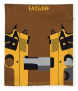 No576 My Face Off Minimal Movie Poster Fleece Blanket