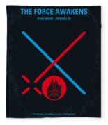 No591 My Star Wars Episode Vii The Force Awakens Minimal Movie Poster Fleece Blanket
