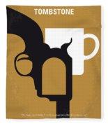 No596 My Tombstone Minimal Movie Poster Fleece Blanket