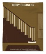 No615 My Risky Business Minimal Movie Poster Fleece Blanket