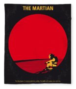 No620 My The Martian Minimal Movie Poster Fleece Blanket