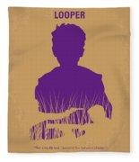 No636 My Looper Minimal Movie Poster Fleece Blanket