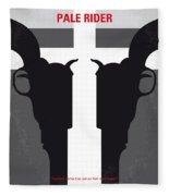 No640 My Pale Rider Minimal Movie Poster Fleece Blanket