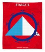No644 My Stargate Minimal Movie Poster Fleece Blanket