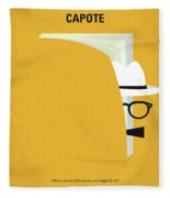No671 My Capote Minimal Movie Poster Fleece Blanket