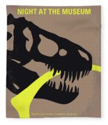 No672 My Night At The Museum Minimal Movie Poster Fleece Blanket by Chungkong Art