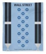 No683 My Wall Street Minimal Movie Poster Fleece Blanket