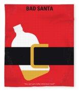 No702 My Bad Santa Minimal Movie Poster Fleece Blanket