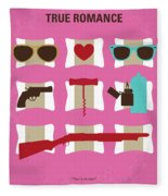 No736 My True Romance Minimal Movie Poster Fleece Blanket