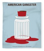 No748 My American Gangster Minimal Movie Poster Fleece Blanket