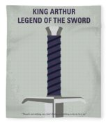 No751 My King Arthur Legend Of The Sword Minimal Movie Poster Fleece Blanket