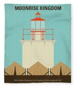 No760 My Moonrise Kingdom Minimal Movie Poster Fleece Blanket