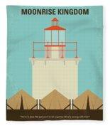 No760 My Moonrise Kingdom Minimal Movie Poster Fleece Blanket
