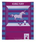 No770 My Kung Fury Minimal Movie Poster Fleece Blanket