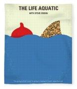 No774 My The Life Aquatic With Steve Zissou Minimal Movie Poster Fleece Blanket