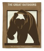 No824 My The Great Outdoors Minimal Movie Poster Fleece Blanket
