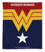 No825 My Wonder Woman Minimal Movie Poster Fleece Blanket