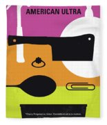 No827 My American Ultra Minimal Movie Poster Fleece Blanket