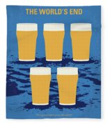 No843 My The Worlds End Minimal Movie Poster Fleece Blanket