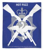 No847 My Hot Fuzz Minimal Movie Poster Fleece Blanket