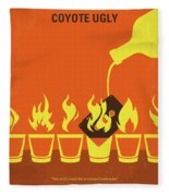 No909 My Coyote Ugly Minimal Movie Poster Fleece Blanket