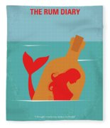 No925 My The Rum Diary Minimal Movie Poster Fleece Blanket