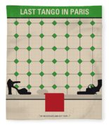 No941 My Last Tango In Paris Minimal Movie Poster Fleece Blanket