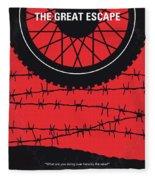 No958 My The Great Escape Minimal Movie Poster Fleece Blanket