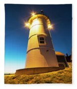 Nobska Light Falmouth Ma Cape Cod Window Shadow Fleece Blanket