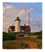 Nobska Lighthouse Fleece Blanket