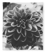 Noir Dahlia  Fleece Blanket