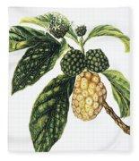 Noni Fruit Fleece Blanket