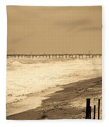 Nor'easter At Nags Head Fleece Blanket