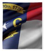 Norh Carolina State Flag Fleece Blanket