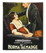 Norma Talmadge In The Probation Wife 1919 Fleece Blanket