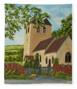 Norman Church In Fingest Fleece Blanket