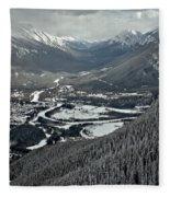 Norquay Banff Town Views Fleece Blanket