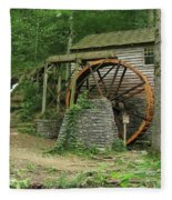 Rice Grist Mill II Fleece Blanket
